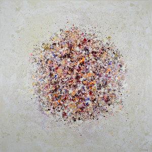 Petal Burst 2 Lisa Carney Peinture Acrylique sur Toile