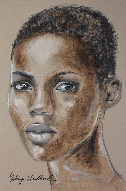 No regrets Yuliya Vladkovska Malerei Acryl, Tinte auf Leinwand