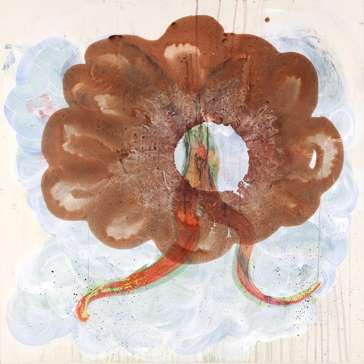 Untitled Bloom Occasion De Shawn Hall 2015 Peinture Acrylique