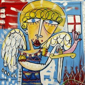 Arcangelo Michele Alessandro Siviglia Peinture Acrylique sur Toile