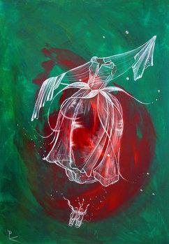 Rose Chic De Patricia Blondel 2017 Peinture Acrylique Sur Bois