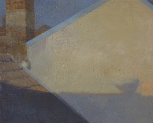L'ombre d' un pigeon Mathieu Weemaels Painting Oil on Canvas
