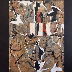 Cautionary Edges, Inner Connections Series Maggie Venn Malerei Acryl auf Leinwand