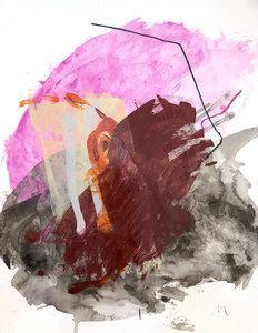Calico Tank 2 Melissa Mcgill Malerei Acryl, Pastell, Graphit auf Papier