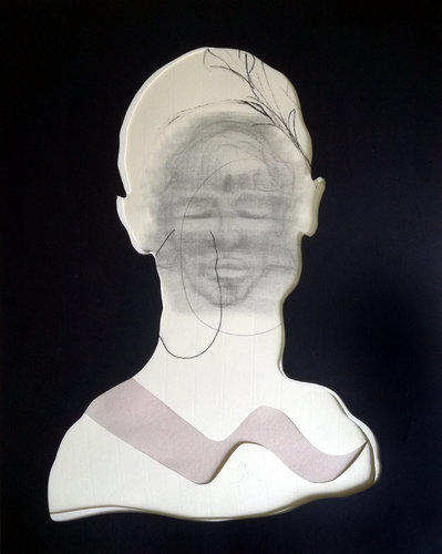ct10 Stefano Mazzolini Work on paper Charcoal, Graffiti on Cardboard