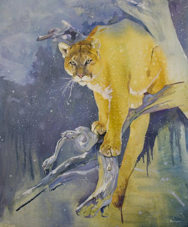 Andrew Halliday productos quimicos Tregua  Puma de Oleksii Gnievyshev (2016): Pintura Óleo en Lienzo - Singulart