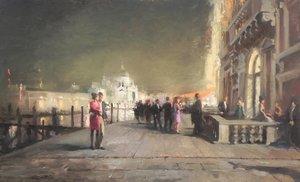 Sansoviniana, Venice Michael Alford Peinture Huile sur Bois
