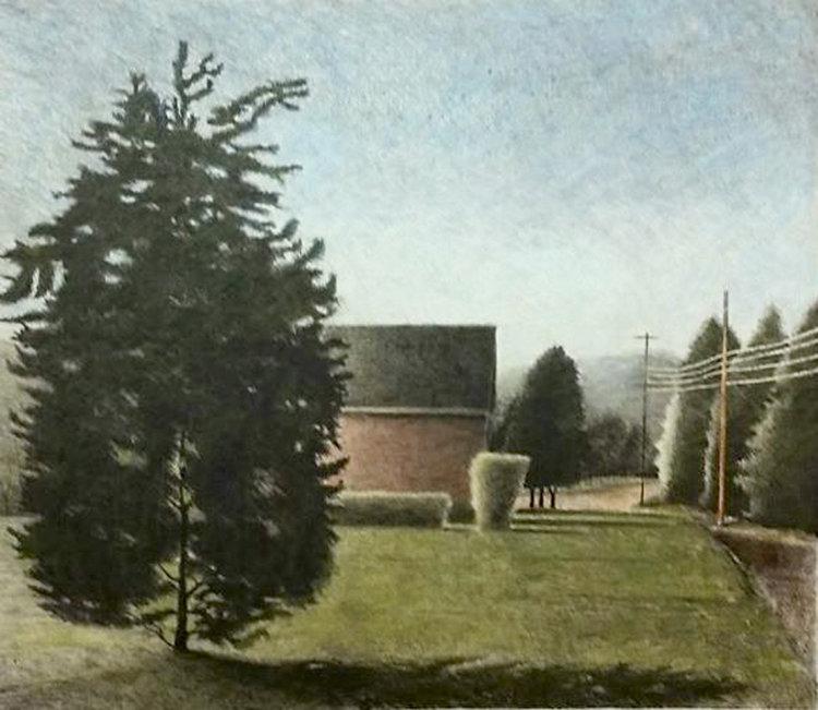 Landscape with Pine Nick Patten Impression Lithographie sur Papier