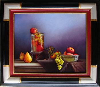 composition fruits Frederic Baccalino Peinture Huile, Laque sur Toile
