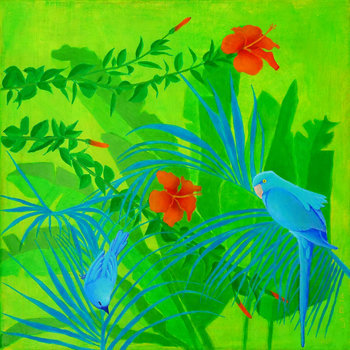 Jungle n°2 von Régine La Fata (2016): Malerei Acryl auf Leinwand ...
