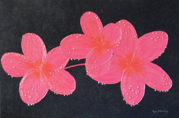 Exotic jewels large semi abstract pink plumeria flower painting exotic jewels large semi abstract pink plumeria flower painting home office decor mightylinksfo