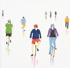 2 Wheels Nano 05 Stephanie Ho Peinture Huile sur Toile