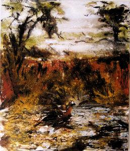 La Tourbe Vincent Verdeguer Peinture Acrylique, Pigments, Vinyle sur Toile