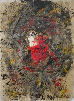 Souvenir 4 Vincent Verdeguer Oeuvre sur papier Acrylique, Cire, Pigments, Vinyle sur Papier