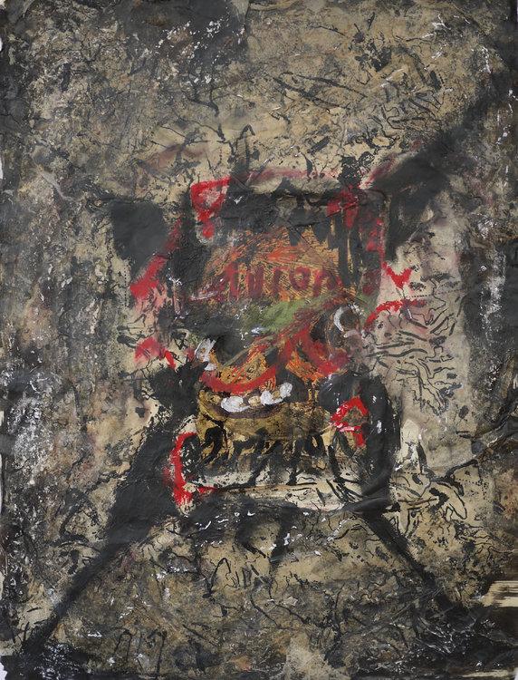 Souvenir 9 Vincent Verdeguer Oeuvre sur papier Acrylique, Cire, Pigments, Vinyle sur Papier