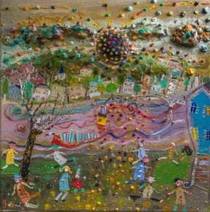 Le soir se pose. Eric Chomis Painting Oil on Canvas