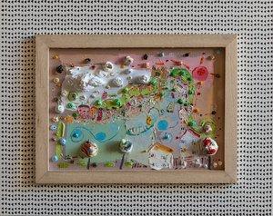 Les rives de ma vie. Eric Chomis Painting Oil on Wood
