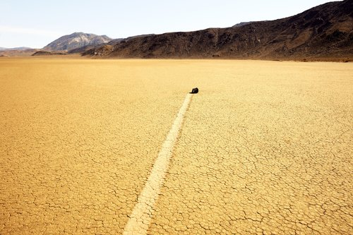 """278 Sacred Site, RaceTrack Death Valley USA, 2011, 36°41'42"""" N 117°33'54"""" W Jacques Pugin Photographie Digital sur Papier"""