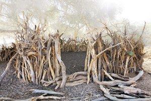"""#297 Sacred Site, enclos, Tchad, 2013, 16°48'2"""" N 21°59'58"""" E, tirage 3/11, tirage pigmentaire sur papier Hahnemühle Jacques Pugin Photographie Digital sur Papier"""