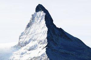 #22 La montagne s'ombre, Le Cervin, 2005, tirage pigmentaire sur papier Hahnemühle, collage sur Dibond 3mm facade acryl 4mm. Jacques Pugin Photographie Digital sur Papier