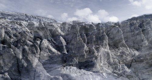 #28 Glaciers Offset, 2017, pigments Ultrachrome sur papier Hahnemühle. 53 x 100 cm. édition sur 6, Jacques Pugin Photographie Digital sur Papier
