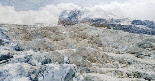 #01 Glaciers Offset, 2017,  pigments Ultrachrome sur papier Hahnemühle, 53 x 100 cm. édition sur 6 Jacques Pugin Photographie Digital sur Papier