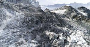 #29 Glaciers Offset, 2017, pigments Ultrachrome sur papier Hahnemühle. 53 x 100 cm. édition sur 6, Jacques Pugin Photographie Digital sur Papier
