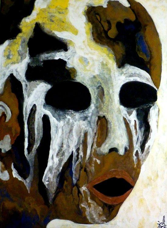 En voix d'exstinction Dikann Peinture Tempera, Pigments sur Toile