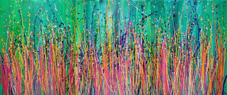 Interrupted Panorama 4 - SOLD Nestor Toro Peinture Acrylique sur Toile