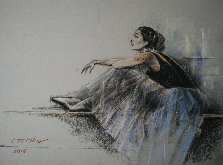 Ballerina De Gela Philauri 2015 Dibujo Lápiz De Color En Papel