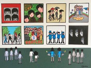 The Beatles Museum Brian Nash Peinture Acrylique sur Toile