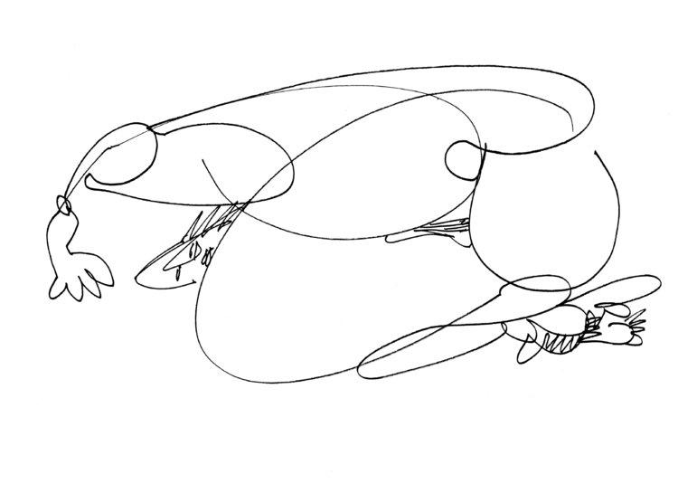 Bulbes - étude 1 Arnaud Gautron Dessin Encre de Chine sur Papier