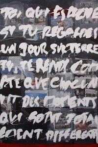 Un jour sur terre Vincent Tagliabue Peinture Collage, Émail sur Bois