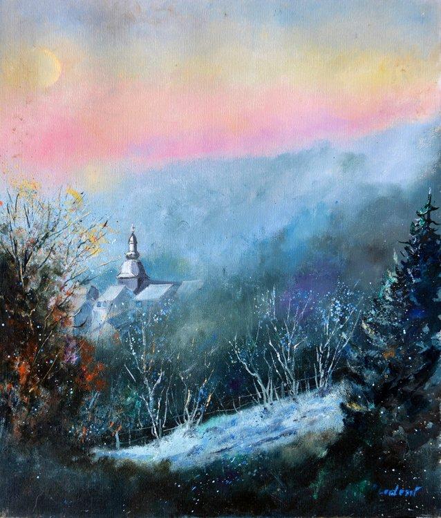 Frozen morning Pol Ledent Peinture Huile sur Toile
