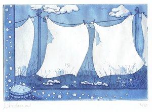 Bulles de savon Beatrice Archinard Impression Gravure sur Papier
