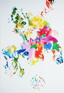 Flowering II 10.17 Ulrike Bultmann Painting Acrylic, Pastel on Canvas