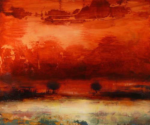 Le dernier jour de l'été Anne Brerot Peinture Acrylique sur Bois