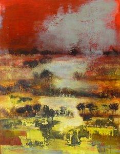 L'étendue Anne Brerot Peinture Acrylique sur Bois