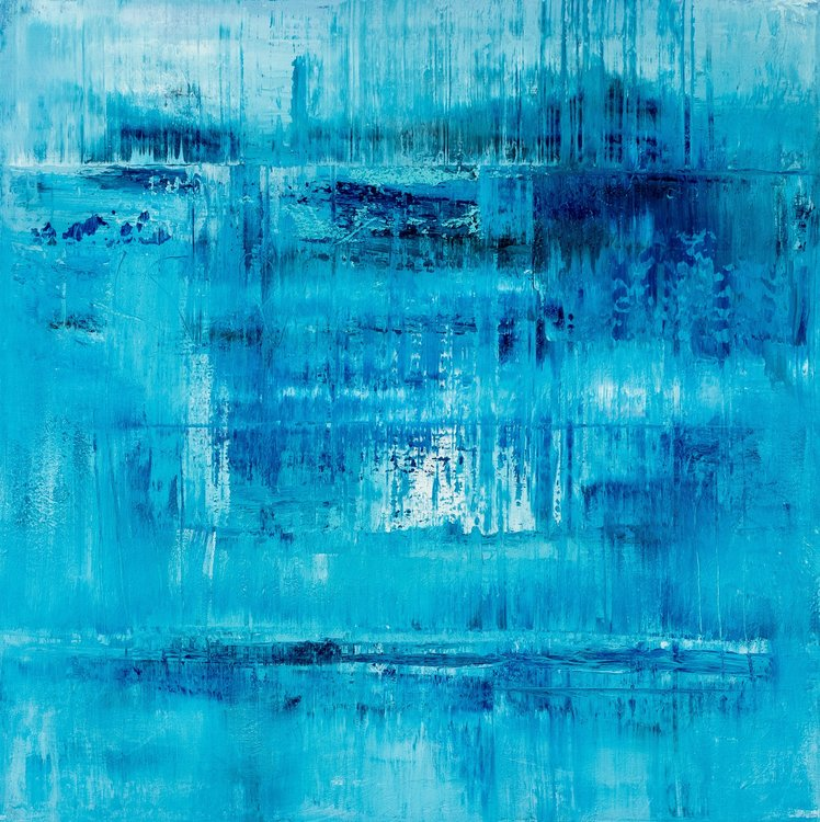 Blue Abstract Painting Aw623 By Radek Smach 2018 Painting Acrylic On Canvas Singulart