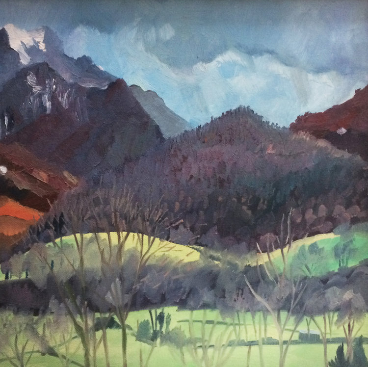 Snow on the Way Emily Ault Painting Oil on Canvas