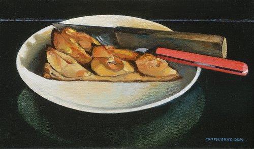 La part de tarte Grand-mère Alain Pontecorvo Painting Oil on Canvas