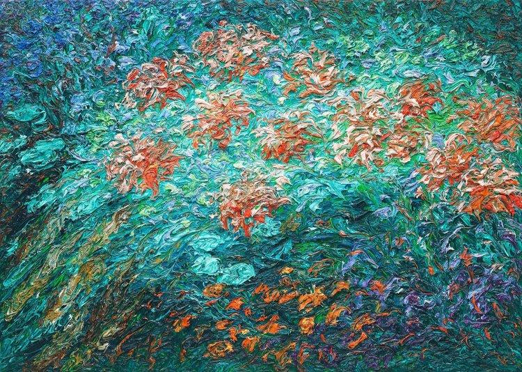 Garten Ansgar Skiba Painting Oil on Canvas