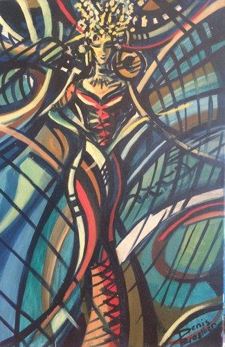 IMPERATRICE 1995HST 60X40 Denis Brasil Peinture  sur Toile