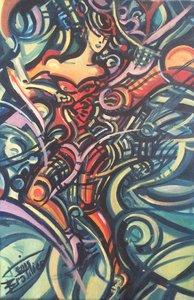 DANSEUSE 1995 HST 60X40 Denis Brasil Peinture  sur Toile