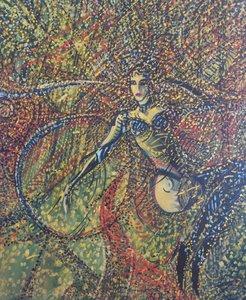 TRAPEZISTE 1999 HST 73X60cm Denis Brasil Peinture  sur Toile