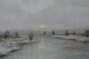 weiden Landschaft Conrad Sevens Malerei Öl auf Leinwand
