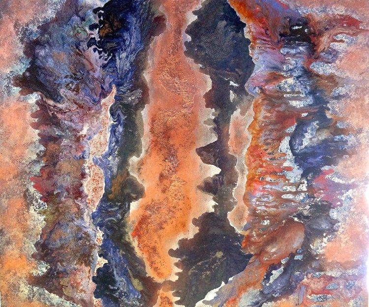Obstination Christine Meyer Peinture Acrylique sur Toile