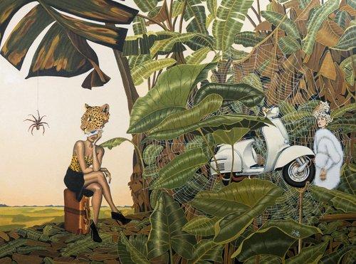 La Transgression des Interdits Dominique Hoffer Painting Oil on Linen