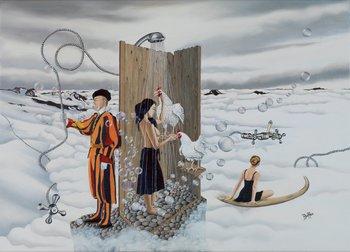 Le Souffle Enchanté des Libertés Vagabondes Dominique Hoffer Peinture Huile sur Toile
