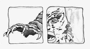 MOVIE 3-D Andrea Clanetti Oeuvre sur papier Encre de Chine sur Papier